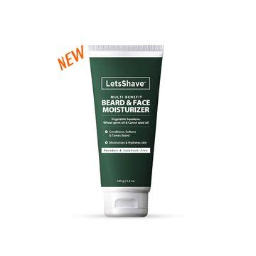 LetsShave | LetsShave Beard & Face Moisturizer for Men - Conditions the Beard - Hydrates Skin - 100 mL
