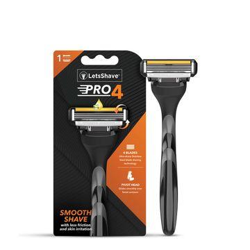 LetsShave | LetsShave Pro 4 Shaving Razor for Men - Pro 4 Blade + Razor Handle