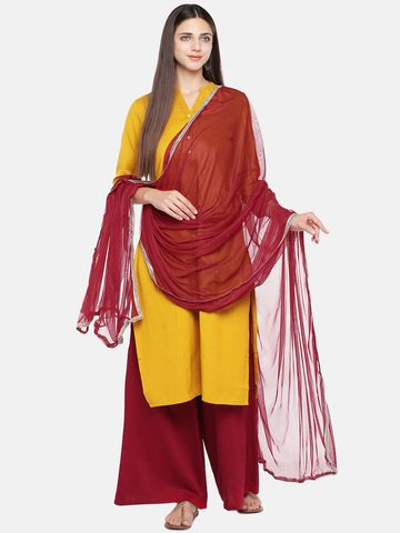 Ethnicity | Ethnicity  Core Women Maroon Dupatta