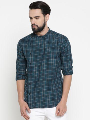 Showoff | Showoff Men's Cotton Checked Slim Casual Kurtas