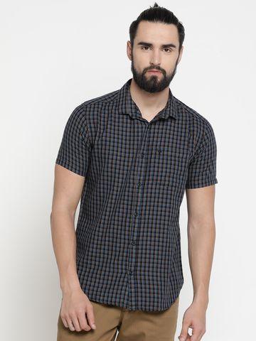 Showoff | Multi Showoff Mens Cotton Checked  Slim Casual Shirts