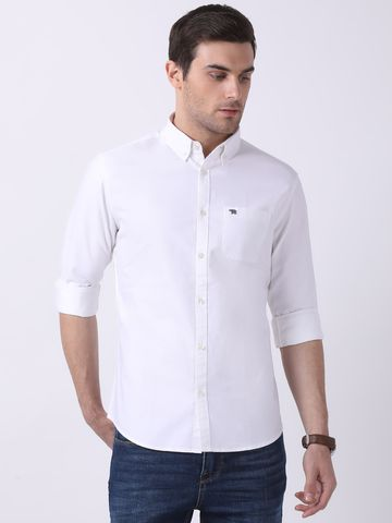 The Bear House | TBH Classic Oxford Button-Down Shirt with Metal Bear