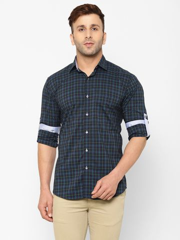 Eppe | EPPE Men's Cotton Checkered Casual Smart Fit Full Sleeves Shirt