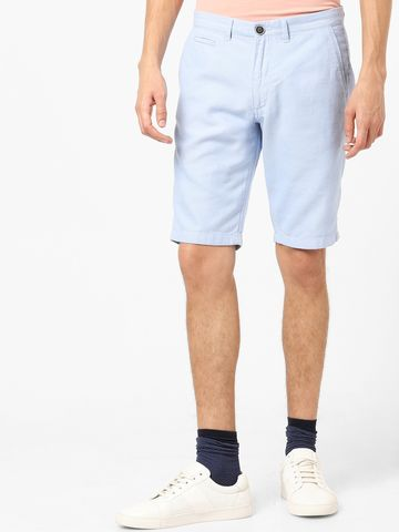 celio | Light Blue Solid Casual Shorts