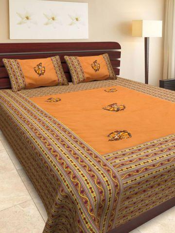 Pinkblock.in | Multi Cotton Patchwork Bedsheet