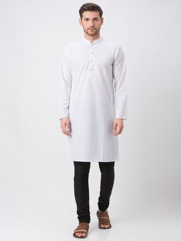 Ethnicity | Ethnicity White Polyester Cotton Kp Set