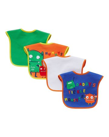 Mothercare | Mummy and Daddy Bibs - Pack of 4