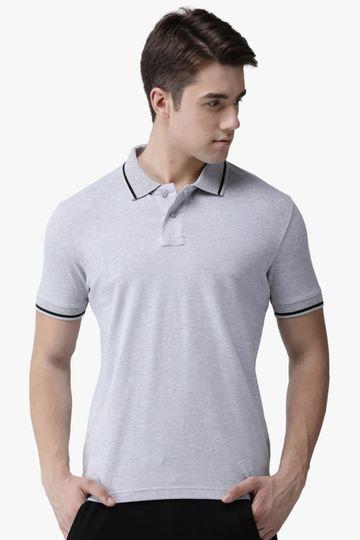 Steenbok | Men's Grey Melange Polo Odour-Free T-Shirt