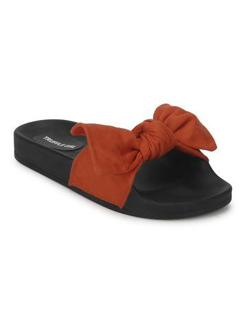 Truffle Collection | Orange Micro Bow Slides