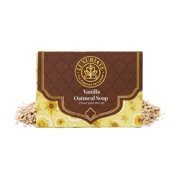 LUXURIATE   LUXURIATE Vanilla Oatmeal soap Bar for Men and Women,125 gm