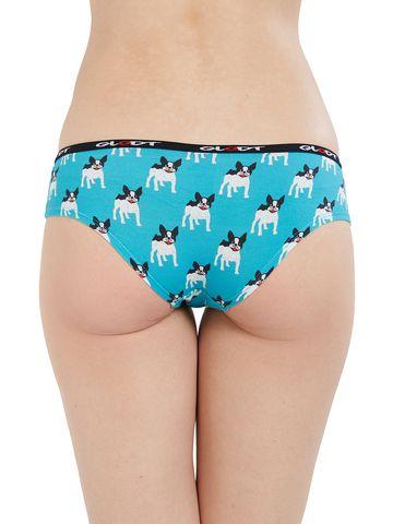 GLODT   Womens Girls French Bulldog Print Pima Cotton Hipster Panties