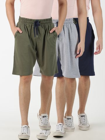 Blue Saint | Blue Saint Men's Solid Multi Shorts