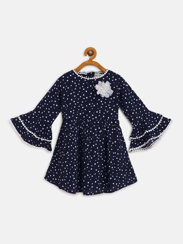 Bellamoda | Bella Moda A line, Fit & Flair, Casual Dress, For Girls, Black, 12 - 18 Months