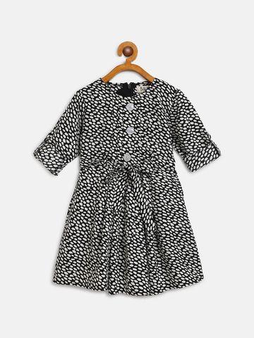 Bellamoda | Bella Moda A line, Fit & Flair, Casual Dress, For Girls, Black, 2 - 3 Years