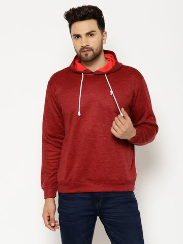Eppe | Eppe Men's Cotton Blend Lightweight Full Sleeves Pullover Fleece Hoodie with Drawstring Sweatshirt