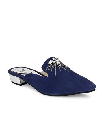 AADY AUSTIN | Aady Austin Women's Trendy Blue Pointed Toe Block Heel