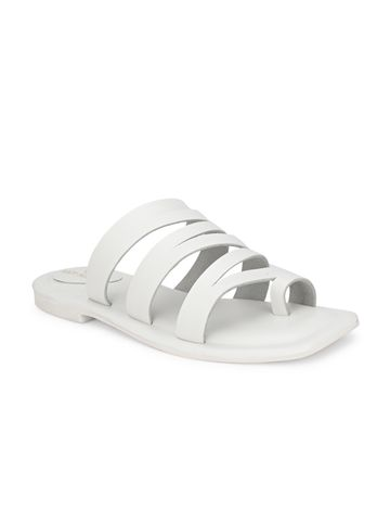 AADY AUSTIN | Aady Austin Women's Trendy White Square Toe Flats