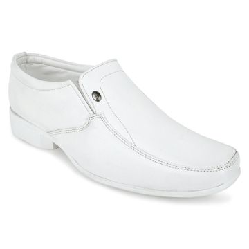 Action | Action Dotcom Men Synthetic | Leather Loafers and Formal Shoes  (White)