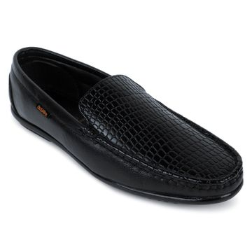 Action | Action Dotcom Men Synthetic | Leather Loafers and Formal Shoes  (Black)