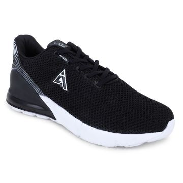 ATHLEO by Action | Action ATHLEO by Men Fabric |Synthetic Sports Running Shoes (Black)