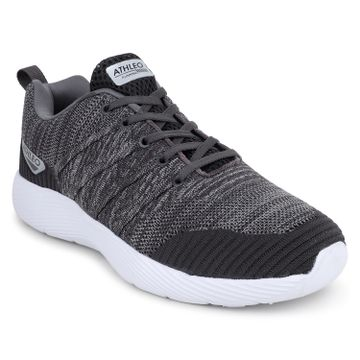 ATHLEO by Action | Action ATHLEO by Men Fabric Sports Running Shoes (Grey)