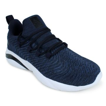 ATHLEO by Action | Action ATHLEO by Men Fabric Sports Running Shoes (Navy)