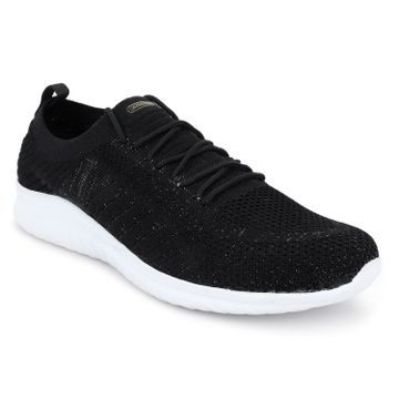 ATHLEO by Action | ATHLEO by Action Fabric Women Sports Running Shoes (Black Golden)