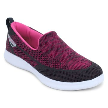 ATHLEO by Action | ATHLEO by Action Fabric Women Sports Running Shoes (Fuschia Grey)