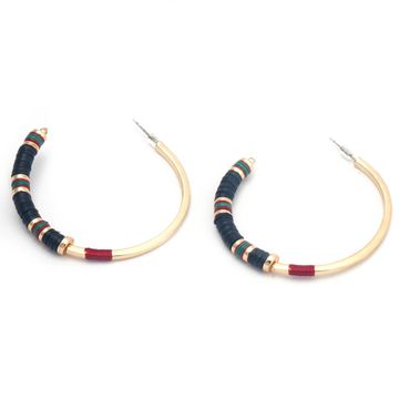 BELLEZIYA | Belleziya Multicolored Gold finish Hoops Stylish jewelry for women/girls