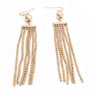 BELLEZIYA | Belleziya Gold Finish Tasselled Drop Earrings for casual/ evening wear