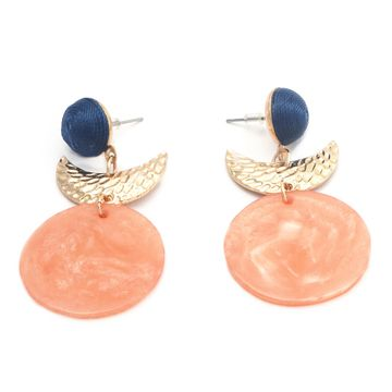 BELLEZIYA | Belleziya Gold finish Pink Blue Drop earrings  for casual/evening wear