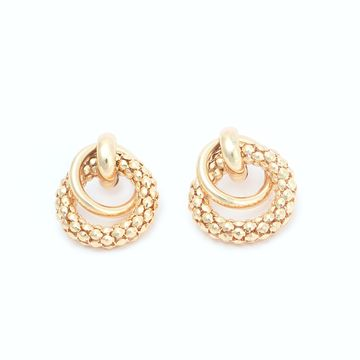 BELLEZIYA | Belleziya Gold finish Stud Earring for Casual & Formal wear