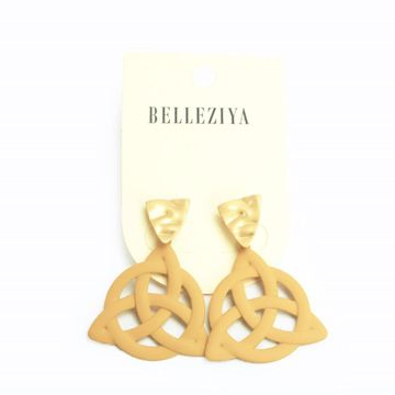 BELLEZIYA | Belleziya Gold Plated Brown Drop Down Earrings Non Precious Metal Jewelry For Casual Wear For Women/Girls