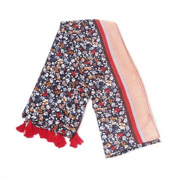 BELLEZIYA | Belleziya black multi colored floral print scarf for women & girls