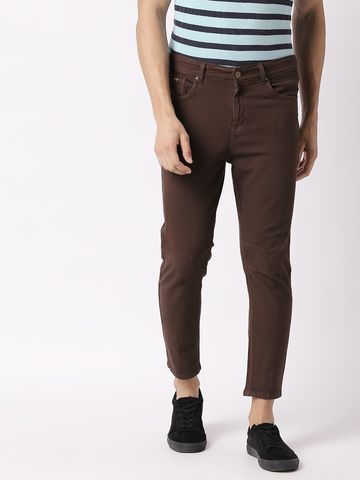 Bolts & Barrels | Bolts and Barrels Men Brown Tapered Jeans