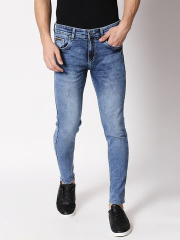 Bolts & Barrels | Bolts and Barrels Men Blue Mid Rise Ankle length Slim Fit Jeans