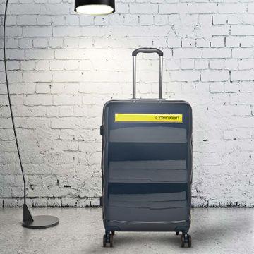Calvin Klein | Calvin Klein Unisex Navy/Yellow ABS/PC Suitcases
