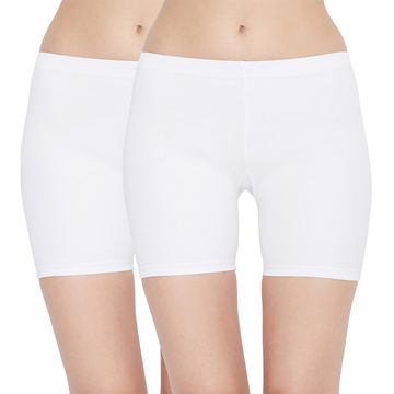 Carein | Care in Women Pc Interlock Shorty Combo Set- Pack of 2 (White)