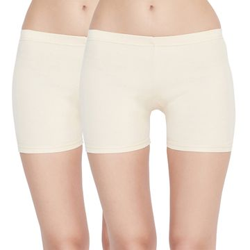 Carein | Care in Women Pc Interlock Shorty Combo Set- Pack of 2 (Skin)