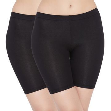 Carein | Care in Women Lycra Shorty Combo Set- Pack of 2 (Black)