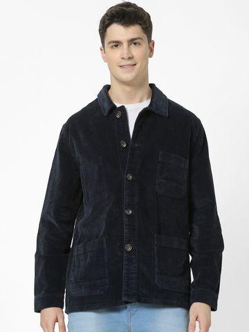 celio | 100% Cotton Regular fit navy jacket