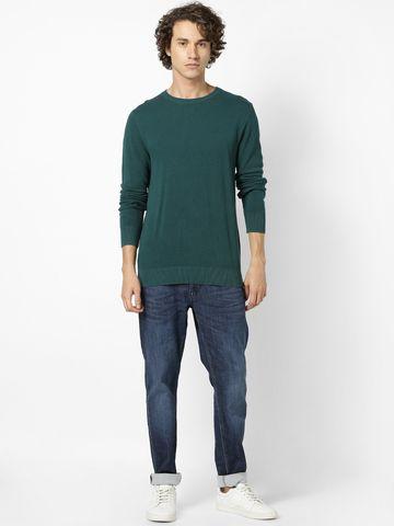 celio | 100% Cotton Green Sweater