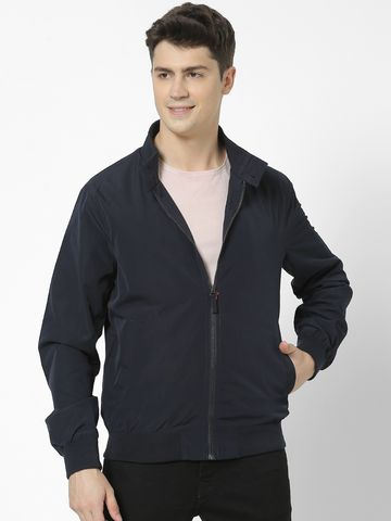 celio   Straight Fit Band Collar navy Jacket