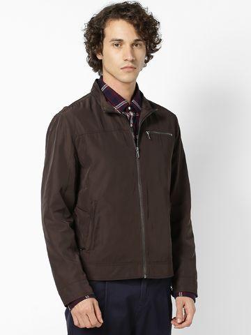 celio | Dark Brown Front Open Jackets