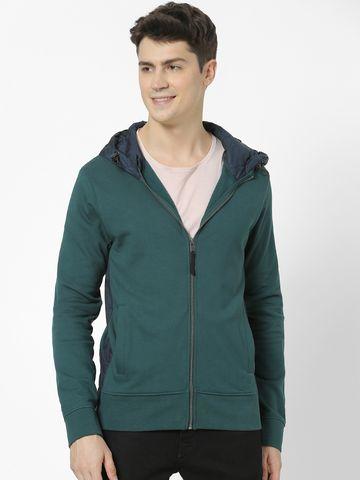 celio | 100% Cotton dark Green Hoodies