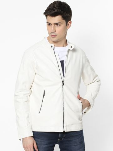 celio | White Biker Jacket