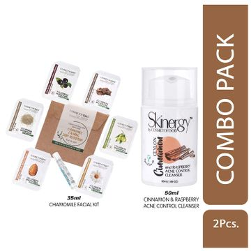 Cosmetofood   Cosmetofood Skinergy Ceylon Cinnamon & Raspberry Acne Control Cleanser With Cinnamon Facial Kit, 85 mL