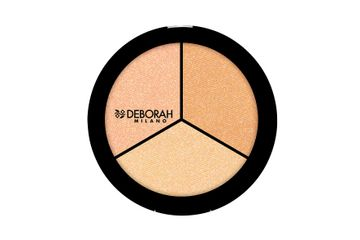 Deborah Milano | Trio Highlighter Palette (Pearly Beige / Gold Amber / Sparkling Rose)