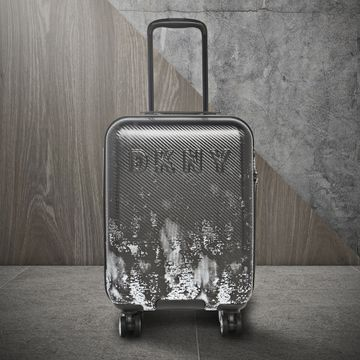 DKNY | DKNY Unisex Black Fabric With Pebble Trim Suitcases