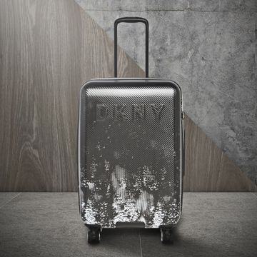DKNY | DKNY Unisex Dark Rose Fabric With Pebble Trim Suitcases